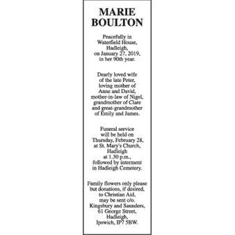 MARIE BOULTON