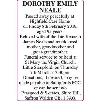 DOROTHY EMILY NEALE