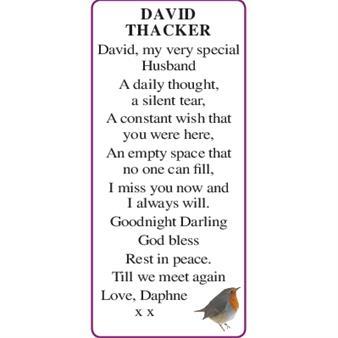 DAVID THACKER