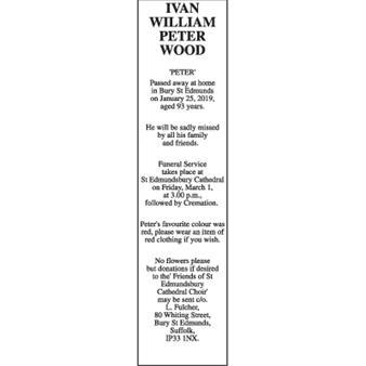 IVAN WILLIAM PETER WOOD