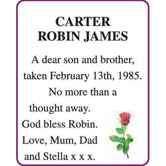 ROBIN JAMES CARTER