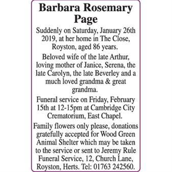 Barbara Rosemary Page