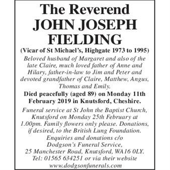 Reverend John Joseph Fielding