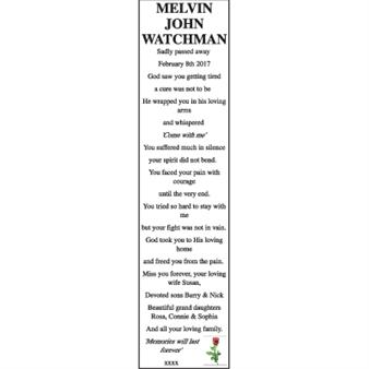 MELVIN JOHN WATCHMAN