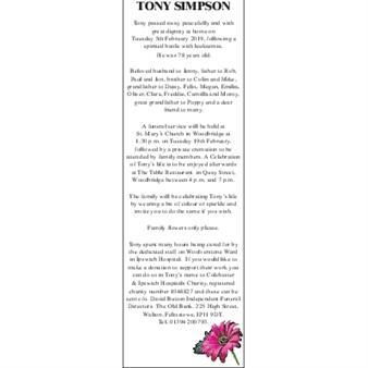 TONY SIMPSON