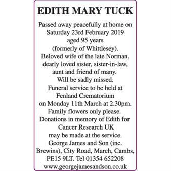 EDITH MARY TUCK