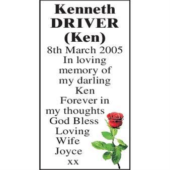 Kenneth DRIVER (Ken)