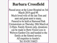 Barbara Crossfield