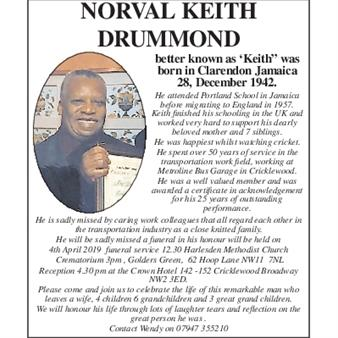 Norval Keith Drummond
