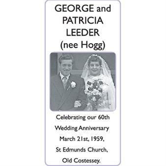 GEORGE and PATRICIA (nee Hogg) LEEDER