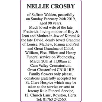 NELLIE CROSBY