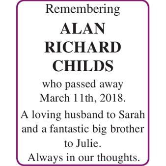 ALAN RICHARD CHILDS