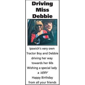 Driving Miss Debbie