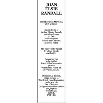 JOAN ELSIE RANDALL