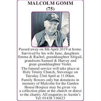 Malcolm Gomm