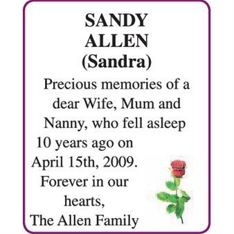 SANDY (Sandra) ALLEN