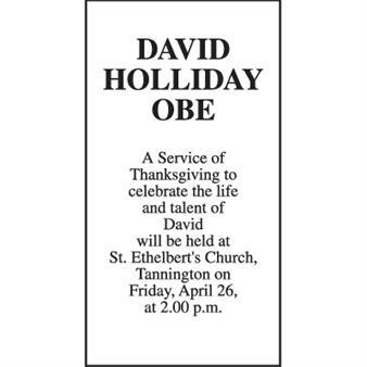 DAVID HOLLIDAY OBE