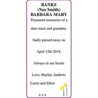 BANKS BARBARA MARY