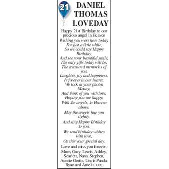 DANIEL THOMAS LOVEDAY