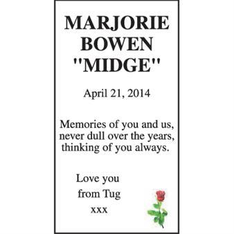 """Marjorie Bowen """"Midge"""""""