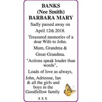 BARBARA MARY BANKS
