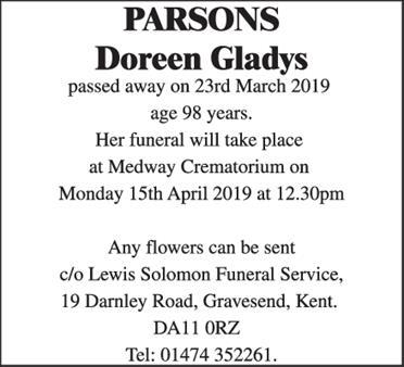 Parsons Doreen Gladys