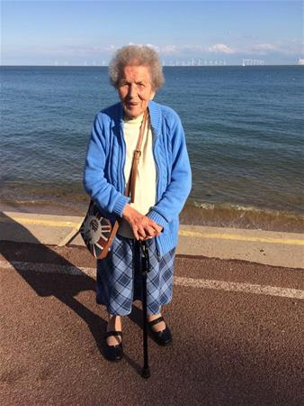 My much loved Aunt Rose at the seaside