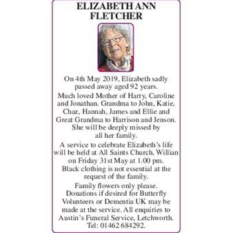 ELIZABETH ANN FLETCHER