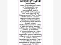 ROSEMARY JARVIS