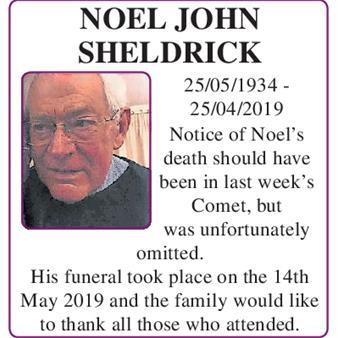 Noel John Sheldrick