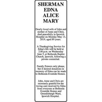 Edna Alice Mary Sherman