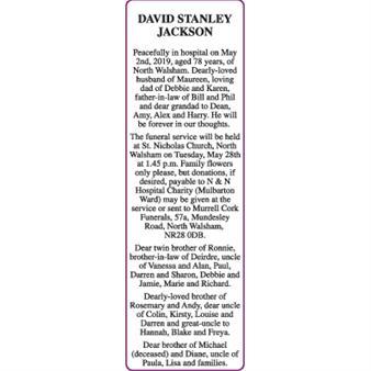 DAVID STANLEY JACKSON