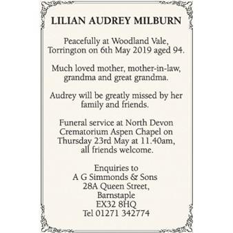 Lilian Audrey Milburn