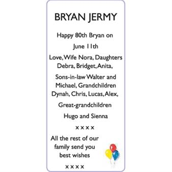 BRYAN JERMY