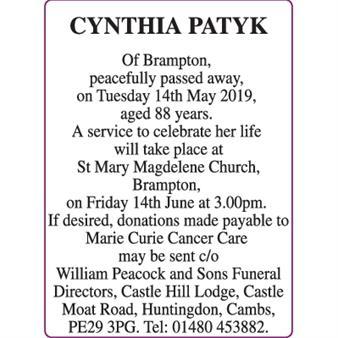 CYNTHIA PATYK
