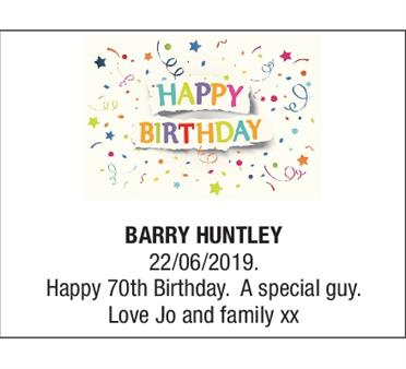 BARRY HUNTLEY