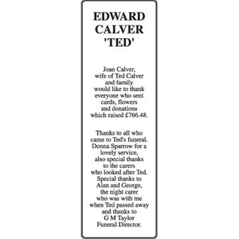 EDWARD CALVER 'TED'