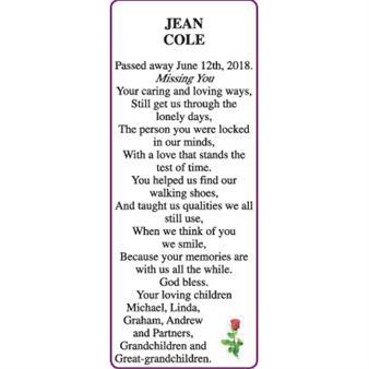 JEAN COLE