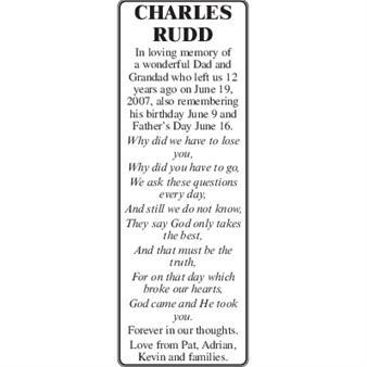 CHARLES RUDD