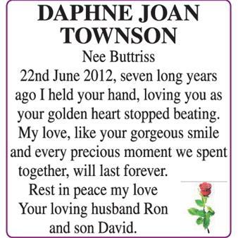 DAPHNE JOAN TOWNSON
