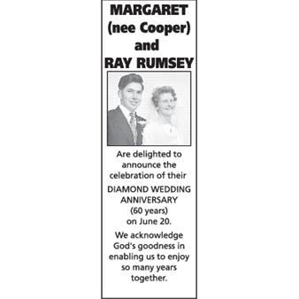 Margaret (nee Cooper) and Ray Rumsey