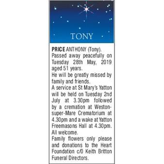 ANTHONY (TONY) PRICE
