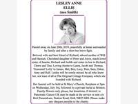 LESLEY ANNE ELLIS (nee Smith)
