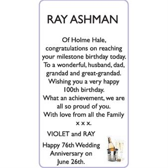 RAY ASHMAN