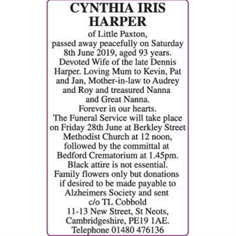 CYNTHIA IRIS HARPER