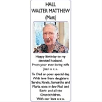 WALTER MATTHEW HALL