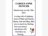 CAROLE ANNE MUNCER