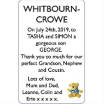 TASHA and  SIMON WHITBOURN - CROWE