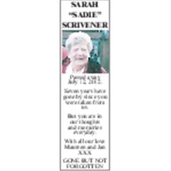 Sarah 'Sadie' Scrivener