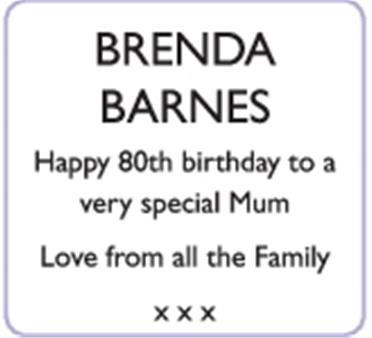 BRENDA BARNES